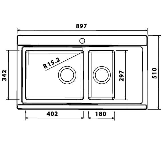 Technical drawing QS-V88852 / GLA150L