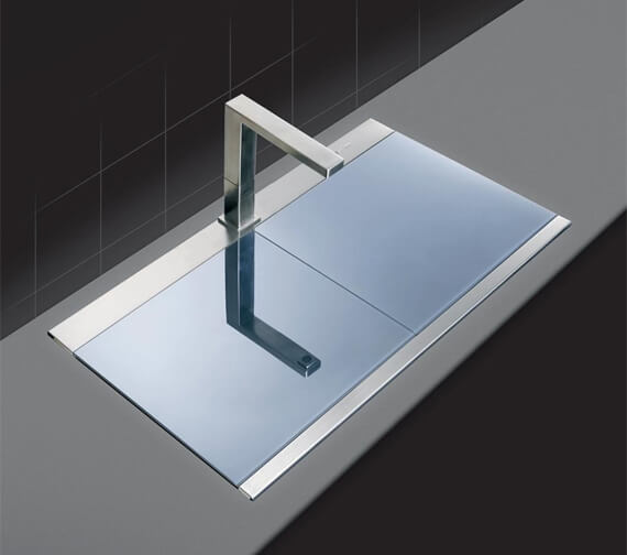 Additional image of Clearwater Glacier 897 x 510mm 1.5 Bowl Kitchen Sink And Drainer