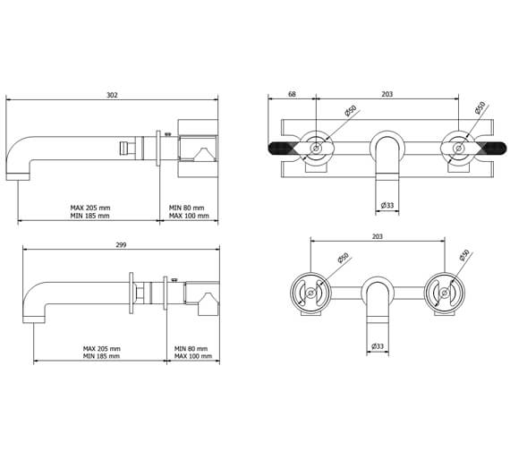 Technical drawing QS-V102474 / UB130WNC_LV+