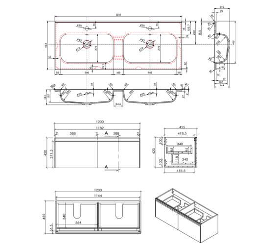 Technical drawing QS-V101272 / FU503