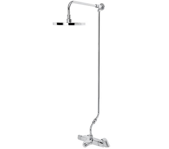 Bristan Assure Wall Mounted Thermostatic Bath Shower Mixer Valve With Rigid Riser Kit