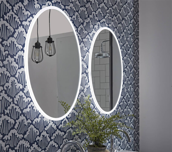 Tavistock Aster 490 x 650mm LED Illuminated Oval Mirror