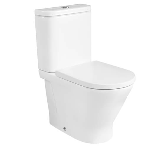 Roca The Gap Round Back-To-Wall Close Coupled Rimless WC Pan And Cistern