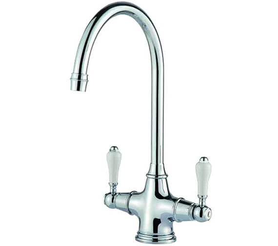 Clearwater Alrisha C Twin Lever Monobloc Kitchen Sink Mixer Tap