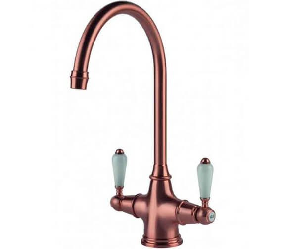 Additional image of Clearwater Alrisha C Twin Lever Monobloc Kitchen Sink Mixer Tap