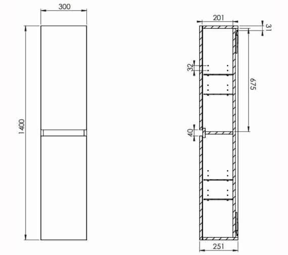 Technical drawing QS-V102296 / M01400.1