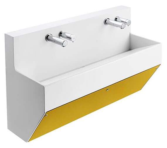 Additional image of Armitage Shanks Contour 21 Splash Wall Hung Wash Trough - Un Drilled