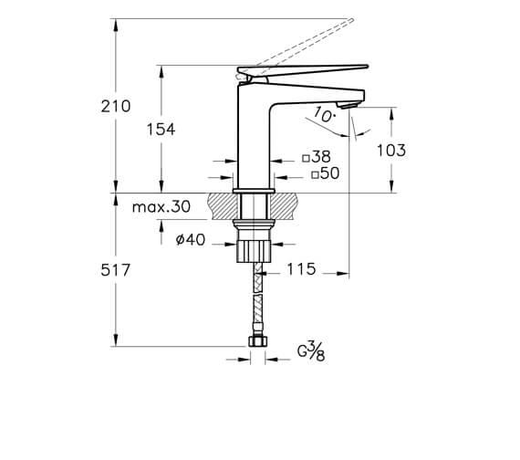 Technical drawing QS-V101280 / A42608VUK