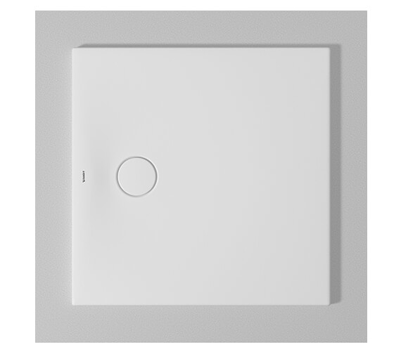 Duravit Tempano Flush Fitted Square Shower Tray With Pre-mounted Sealing Collar