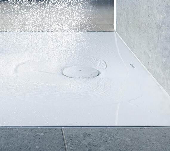 Additional image of Duravit Tempano Flush Fitted Square Shower Tray With Pre-mounted Sealing Collar