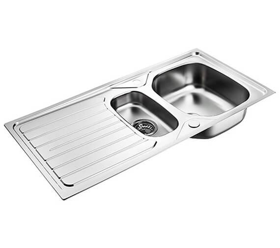 Armitage Shanks Sandringham 1.5 Bowl Kitchen Sink With Drainer