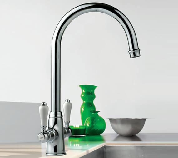 Clearwater Elegance C Twin Lever Monobloc Kitchen Sink Mixer Tap