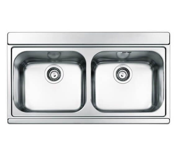 Clearwater Mirage 897 x 510mm Double Bowl Kitchen Sink And Drainer