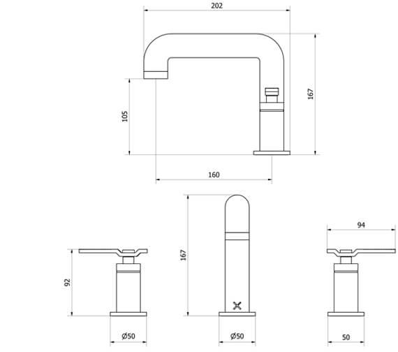 Technical drawing QS-V102475 / UB135DNC_LV