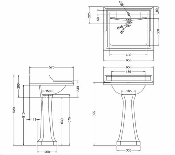 Technical drawing QS-V99767 / B15 1TH JET