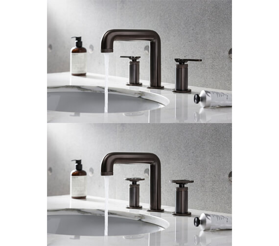 Additional image of Crosswater Union Deck Mounted 3 Hole Basin Mixer Tap