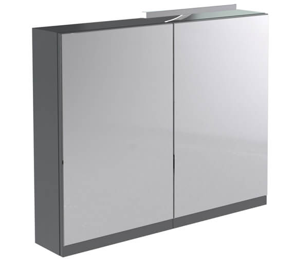 Kartell Ikon 600mm Mirror Cabinet With Light And Shaver Socket