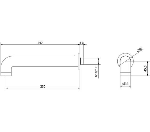 Technical drawing QS-V102281 / UB0370C