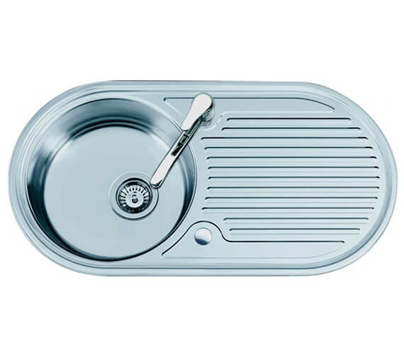 Clearwater Oboe 847 x 444mm Single Bowl Kitchen Sink And Drainer