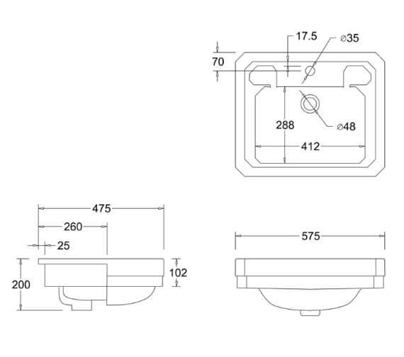 Technical drawing QS-V99769 / B12 1TH JET
