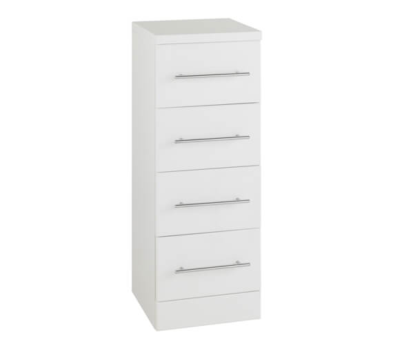 Kartell K-Vit Impakt 4 Drawer Unit 300 x 831mm