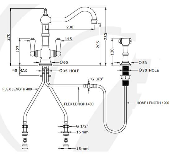 Technical drawing QS-V100267 / 4766CP