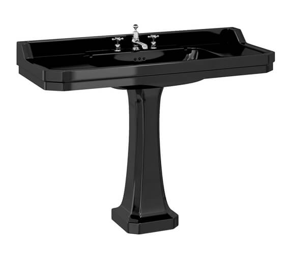 Burlington Jet Edwardian 120cm Basin with classic pedestal