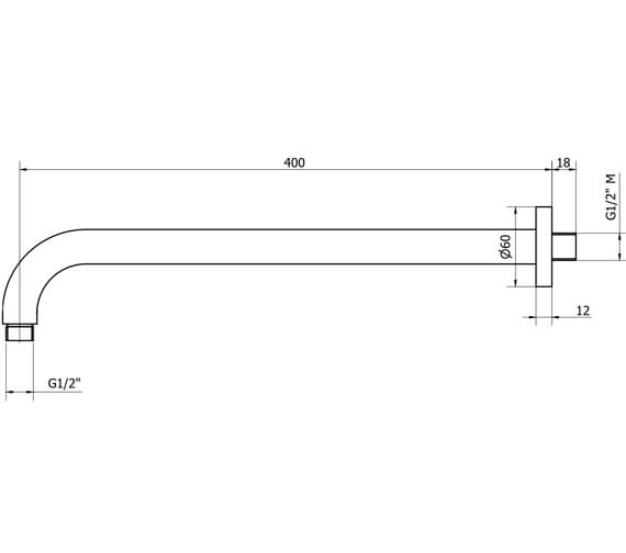 Technical drawing QS-V102283 / UB400C
