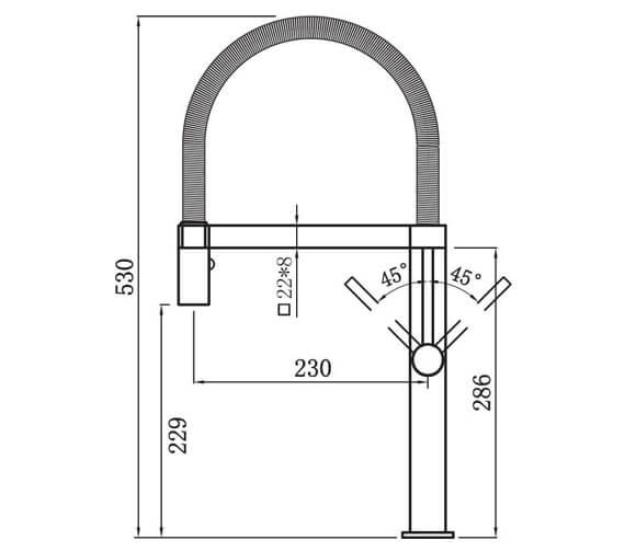 Technical drawing QS-V102369 / ME2CP