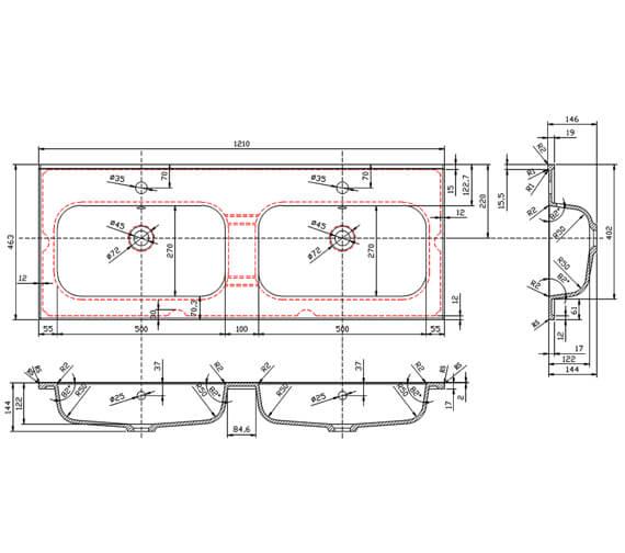 Technical drawing QS-V101275 / FU017