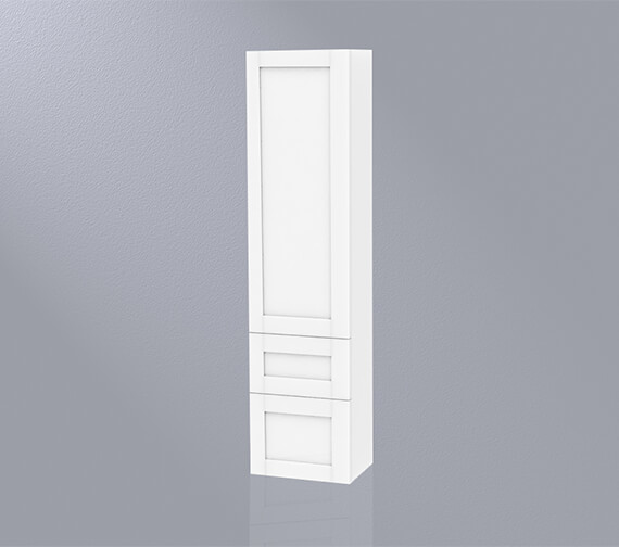 Miller London 400 x 1690mm Tall Cabinet With Door Storage And 2 Drawers