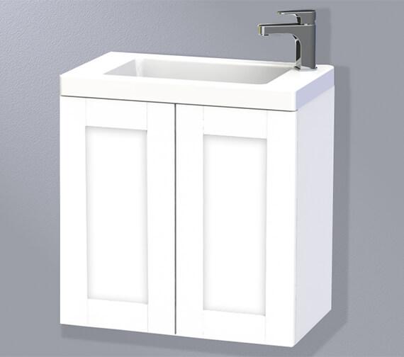 Miller London 60 Double Door White Wall Hung Basin Vanity Unit