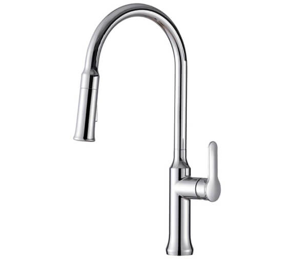 Clearwater Tania Monobloc C Kitchen Sink Mixer Tap With Twin Flow Pull-Out Spray