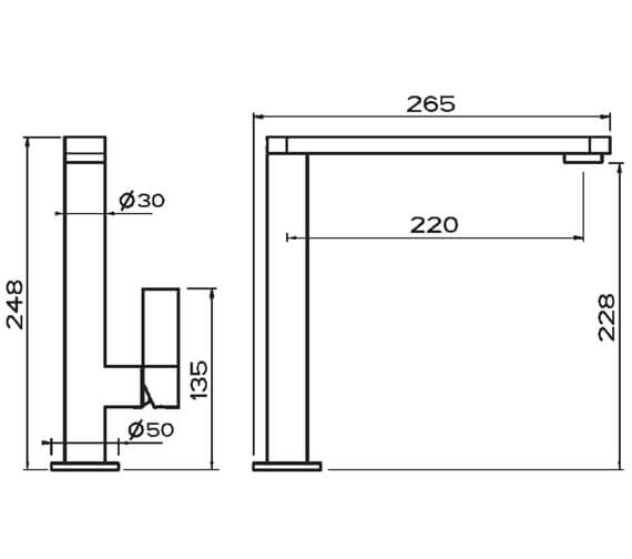 Technical drawing QS-V102374 / CW0115CP