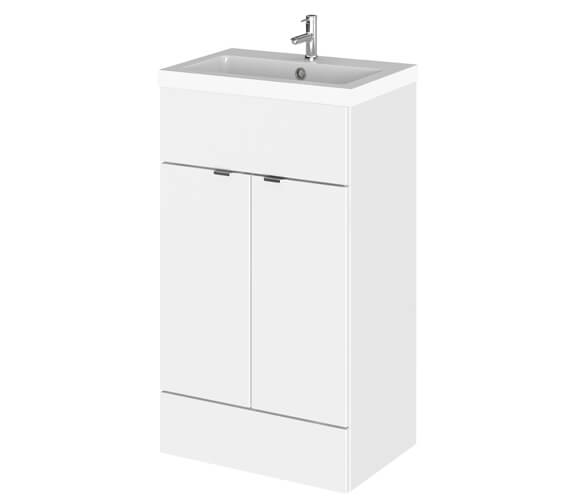 Hudson Reed Fusion 500mm Full Depth Floorstanding Vanity Unit And Basin