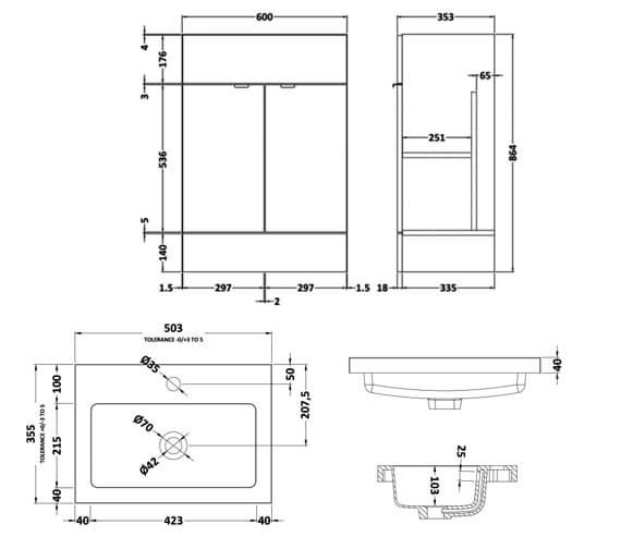 Technical drawing QS-V90121 / CBI107