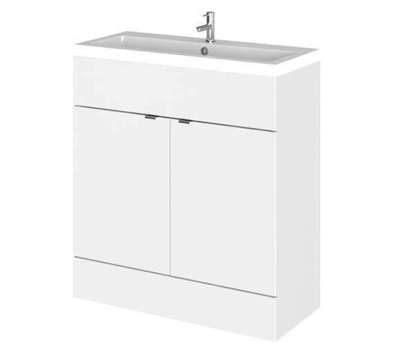Hudson Reed Fusion 800mm Full Depth Floorstanding Vanity Unit And Basin