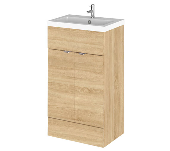 Additional image of Hudson Reed Fusion 500mm Full Depth Floorstanding Vanity Unit And Basin