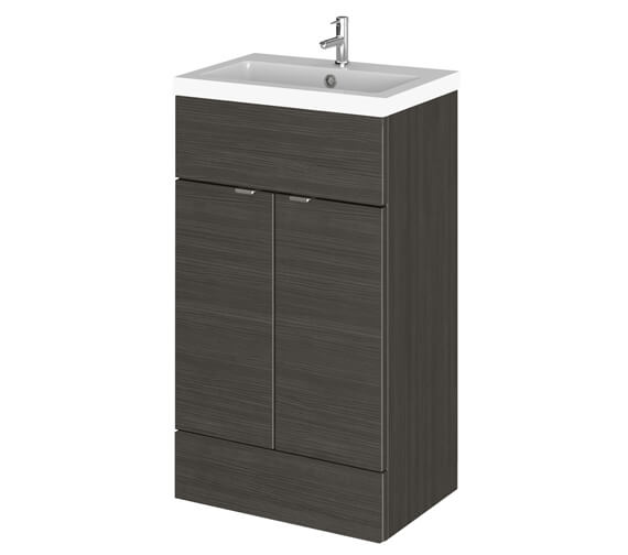 Alternate image of Hudson Reed Fusion 500mm Full Depth Floorstanding Vanity Unit And Basin