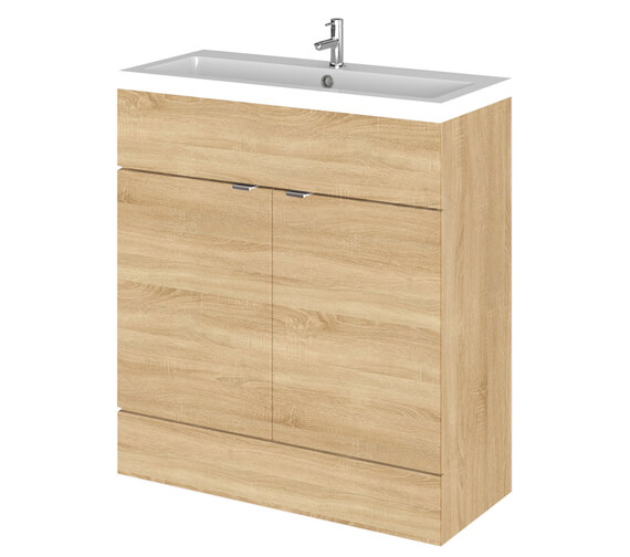 Additional image of Hudson Reed Fusion 800mm Full Depth Floorstanding Vanity Unit And Basin
