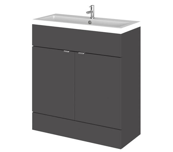 Alternate image of Hudson Reed Fusion 800mm Full Depth Floorstanding Vanity Unit And Basin