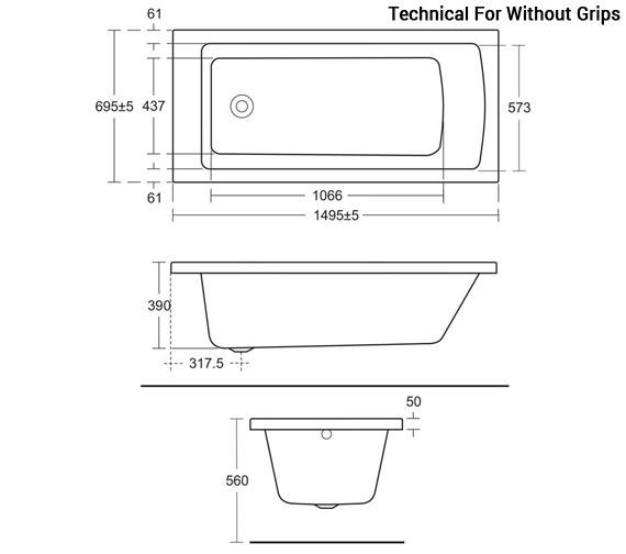 Technical drawing QS-V96083 / E155301