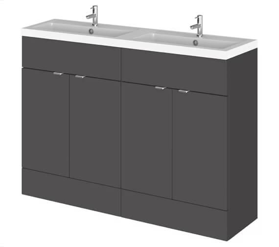 Alternate image of Hudson Reed Fusion 1200mm Full Depth Floorstanding Vanity Unit And Basin