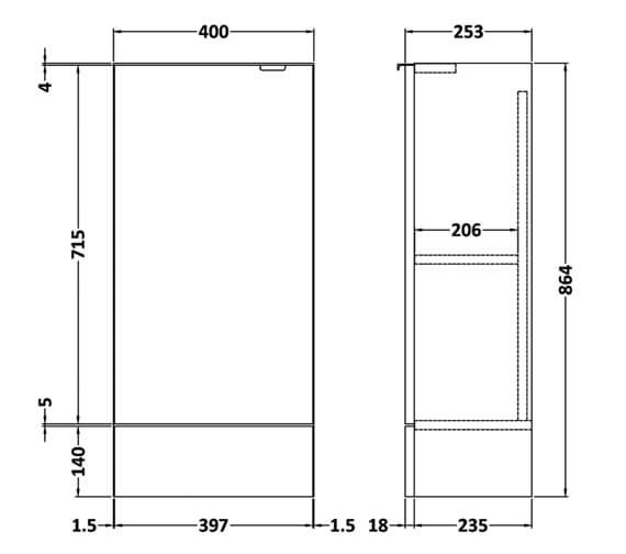 Technical drawing QS-V90168 / OFF183