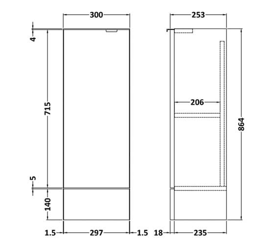 Technical drawing QS-V98014 / OFF181