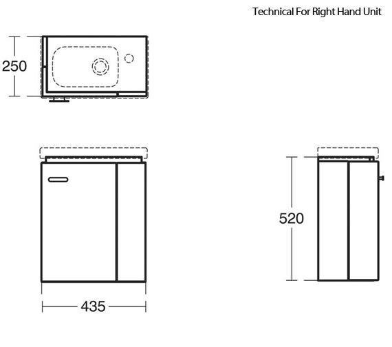 Technical drawing QS-V89410 / E0370WG