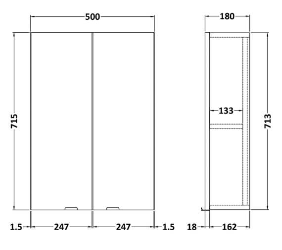 Technical drawing QS-V98015 / OFF155