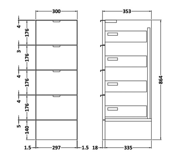 Technical drawing QS-V90132 / OFF132