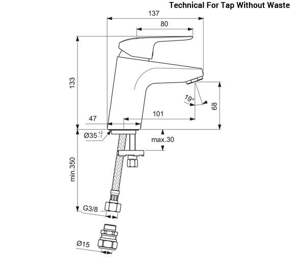 Technical drawing QS-V96107 / B1812AA