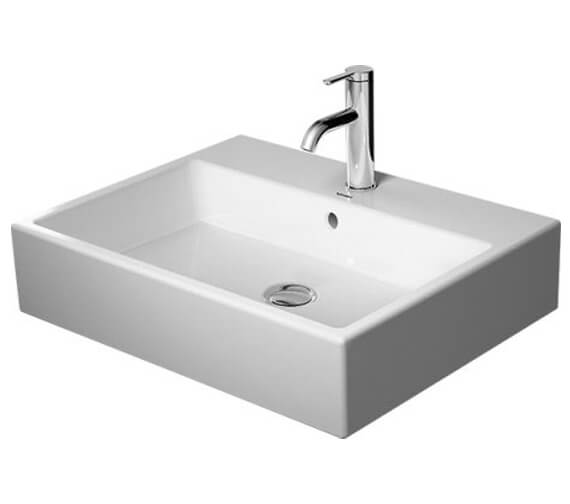 Duravit Vero Air 600mm Wide 1 Taphole Washbasin